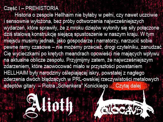 Historia powstania zespołów alioth i holocaust