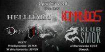 Sawblade / Hellhaim / Komandos – 1.12.18, Otwock (Klub Smok)