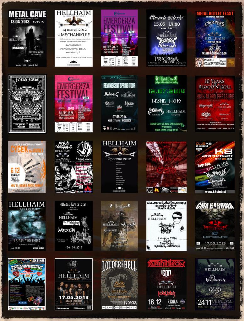 Grafiki biletów z koncertów hellhaim