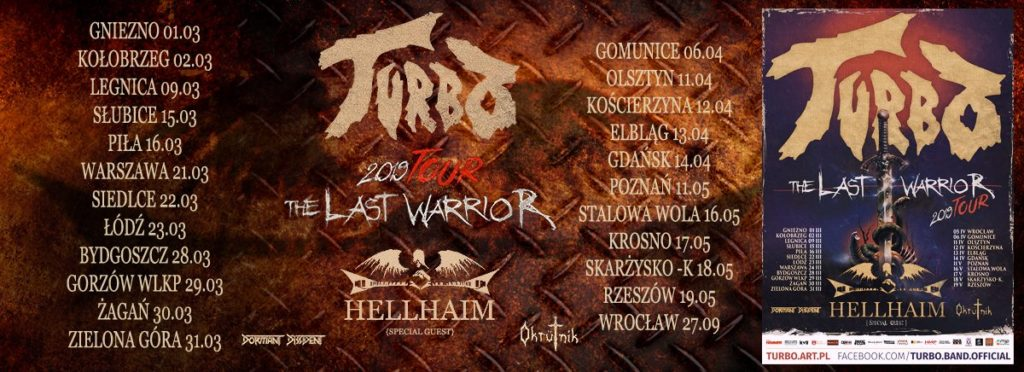 Trasa Turbo The Last Warrior 2019 Tour