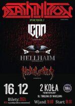 16 grudnia HELLHAIM DEATHINITION ICON METALIATOR w klubie 2 koła